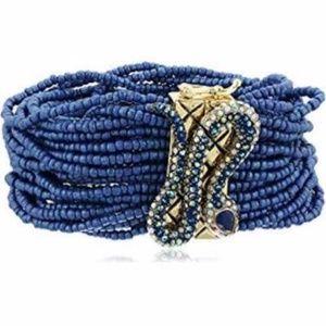 """Betsey Johnson """"Betsey Blues"""" Pave Snake Bracelet"""